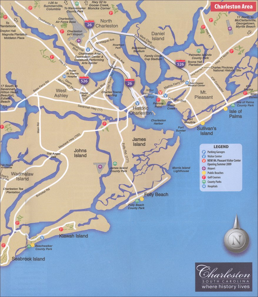 Charleston SC Area Map on