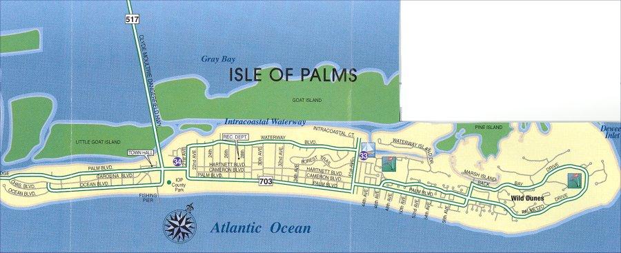 Isle Of Palms Map Isle of Palms SC Area Map Isle Of Palms Map