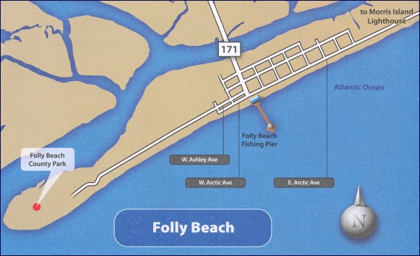 Folly Beach South Carolina Map.Map Of Folly Beach Sc