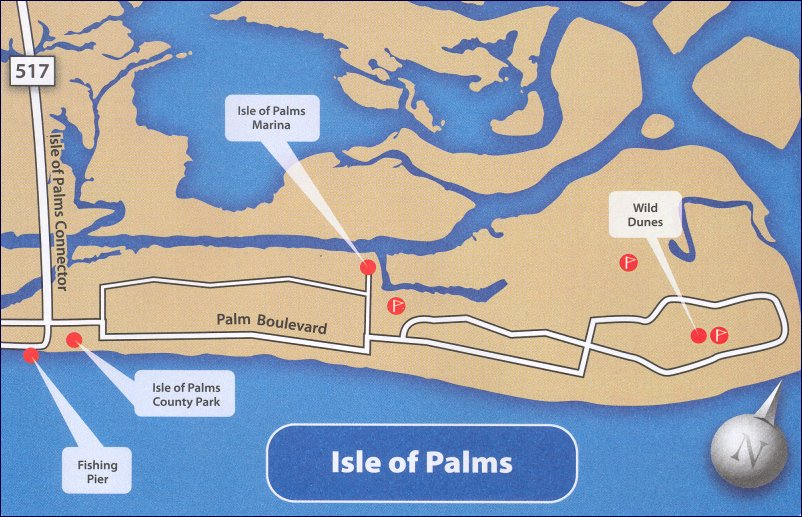 Isle of Palms Area Map