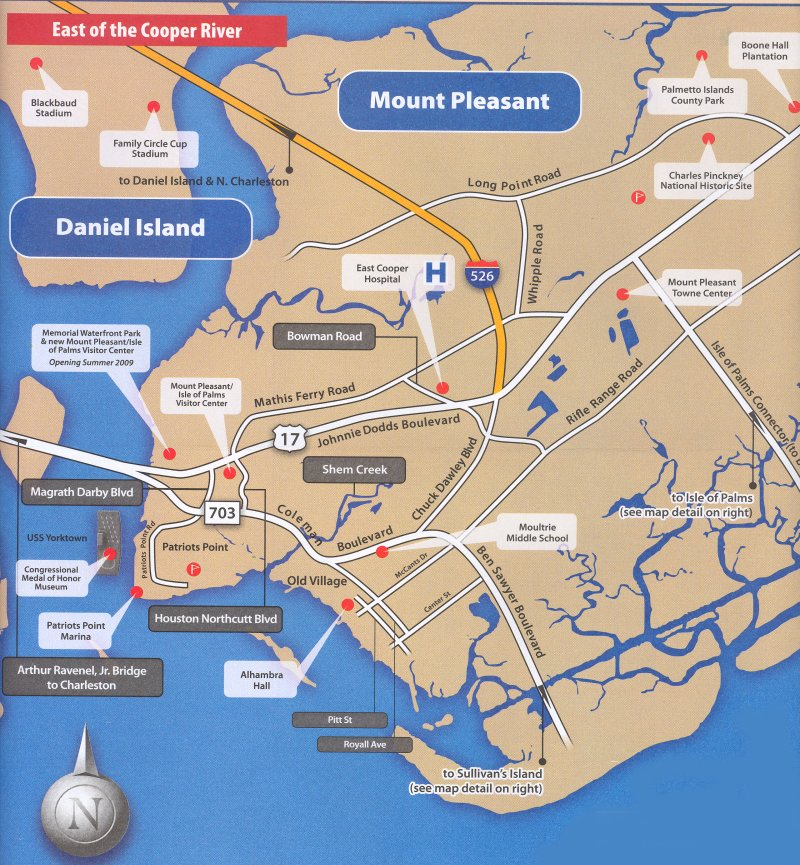 Mount Pleasant SC Map SC