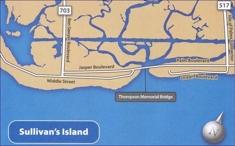 Sullivan's Island Area Map