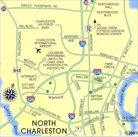 North Charleston Map